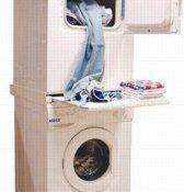 DREHFLEX® - Zwischenbaurahmen Waschsäule für Waschmaschine und Trockner / mit Auszug - 1